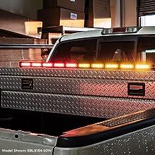 "38"" 32-Watt SolarBlast SBLS84 Traffic Advisor Light Bar and Controller Box"