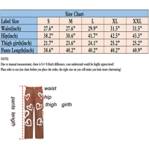 size chart of brown color