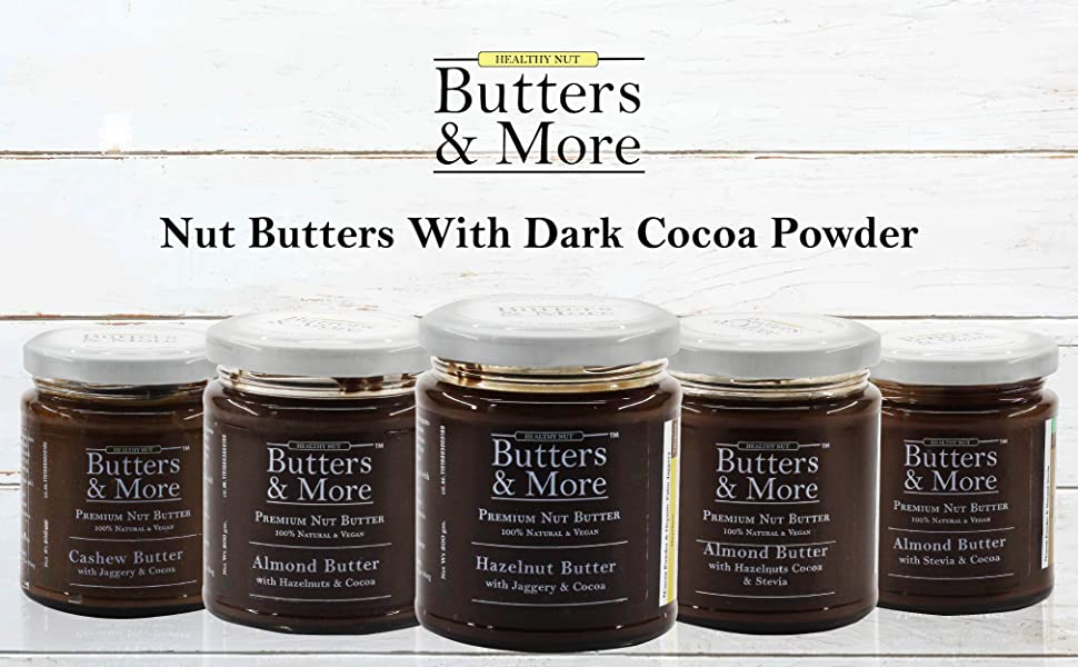 Butters and & more & chocolate jam nut Almond butter vegan keto dark  hazelnut cocoa spread