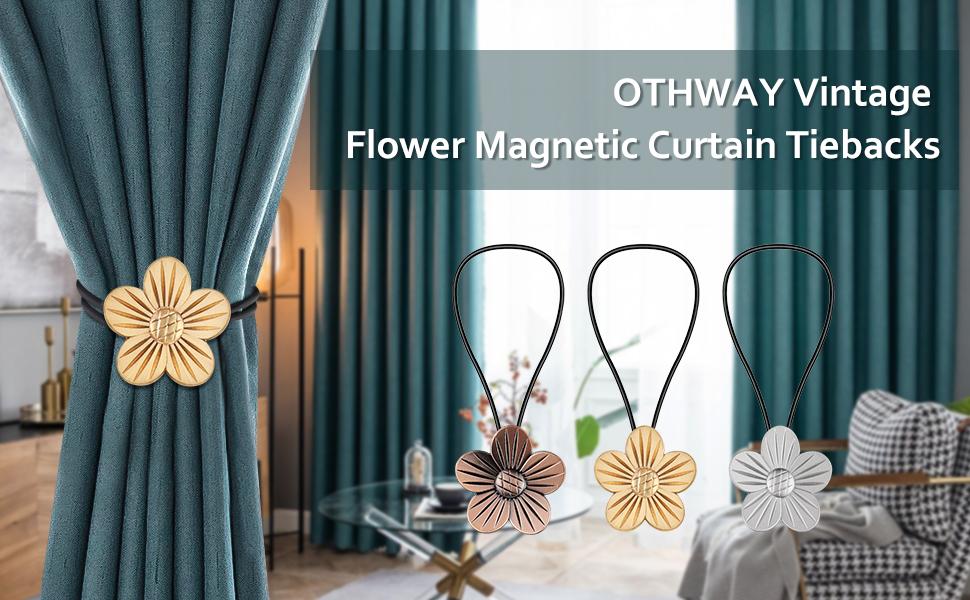 flower curtain tiebacks
