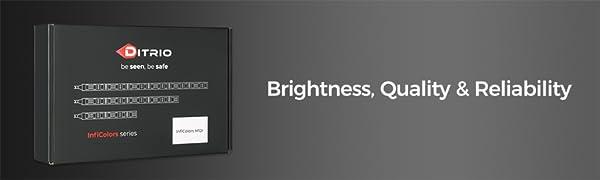 DITRIO RGB LED strip light kit for motorcycles