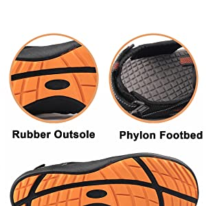 Durable Rubber Outsole & Comfortable Phylon Footbed