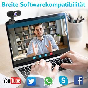webcams, auriculares y micrófonos