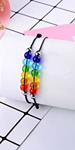 rainbow beads bracelets