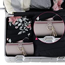 Vlando Viaggio Small Jewelry Case, Travel Accessory Storage Box