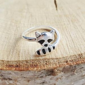 cute lovely raccoon ring