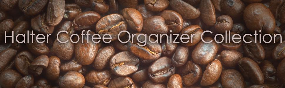 Coffee organizer, drawer, coffee station, k-cups, caddy