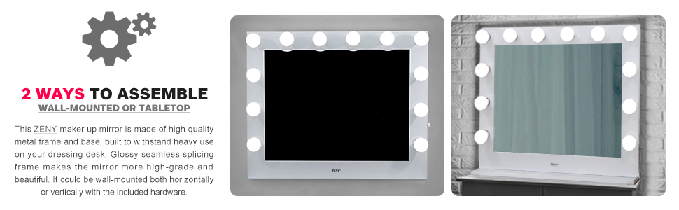 Wall-Mounted or Tabletop Vanity Mirrors