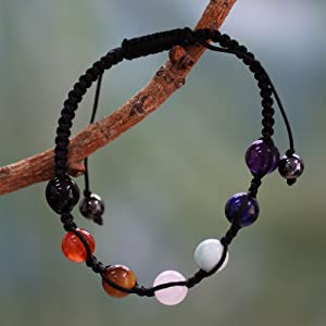 BRACELETS with very strong nylon macrame adjustable reelable!