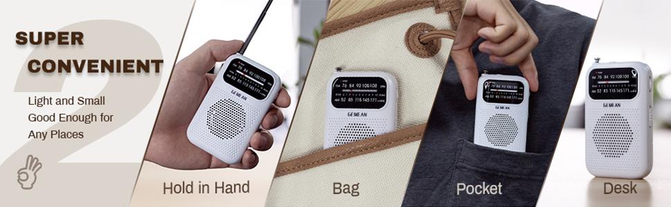 pocket radio am fm
