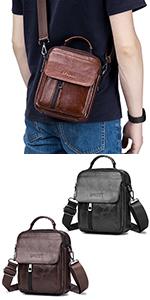 SPAHER Mens Small Shoulder Bag