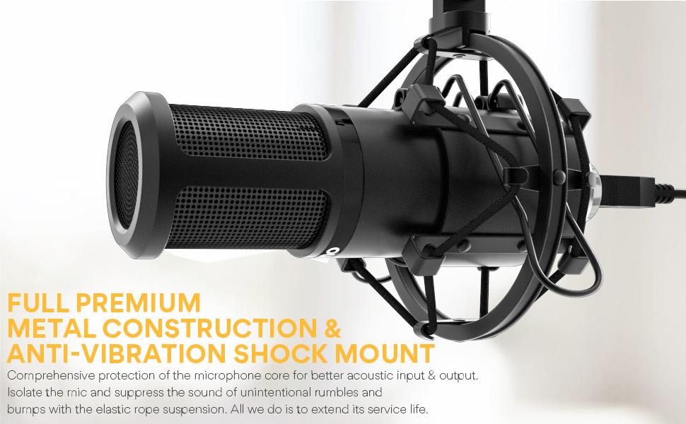 MAONO AU-PM420 Metal USB Condenser Microphone 9