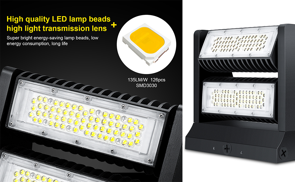 led wall pack Rotatable