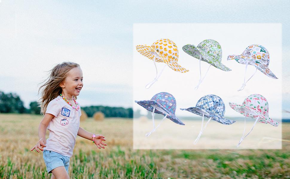 Adattabile con sottogola a Strappo Happy Cherry Cappello di Protezione Solare Anti-UV Sole Bambino Neonati Piccolo Bambini 50