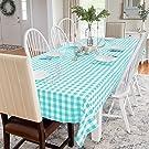 Cotton Rectangle Tablecloth Navy