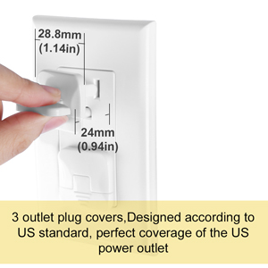 Lockable outlet plugs baby proof