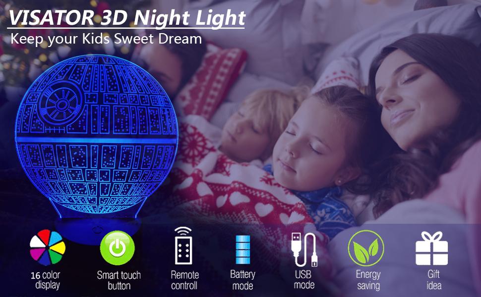 VISATOR 3D Night Light
