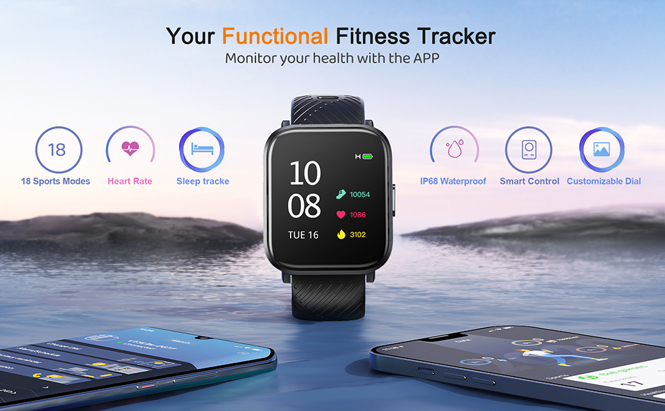 Smart Watch, Virmee VT3 Lite Fitness Tracker