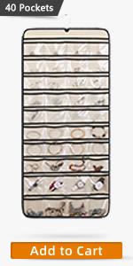 40 Pockets jewelry organizer