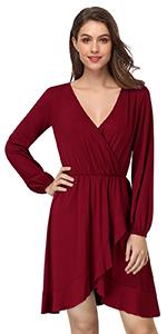 Long Sleeve Ruffle Mini Dress