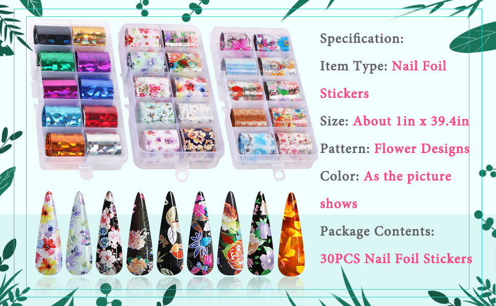 Nail foil stickers