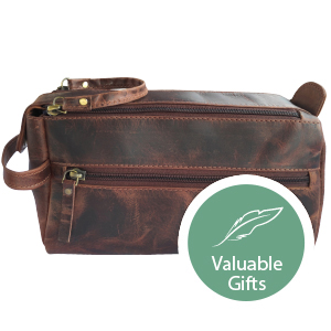 Mens Leather Toiletry Bag Dopp Kit Durable Design Stay Organized Travelling Business indoor outdoor