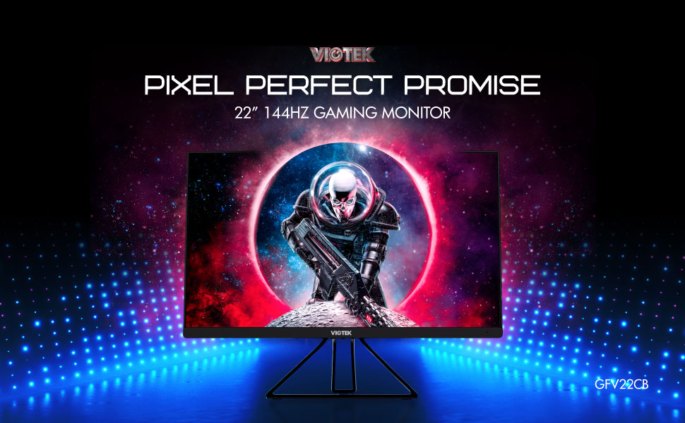 VIOTEK GFV22CB 22-Inch 144Hz Gaming Monitor — Ultra-Compact, Space-Saving & Powerful