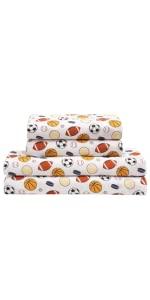 kids sheets set basketball sports baseball soccer