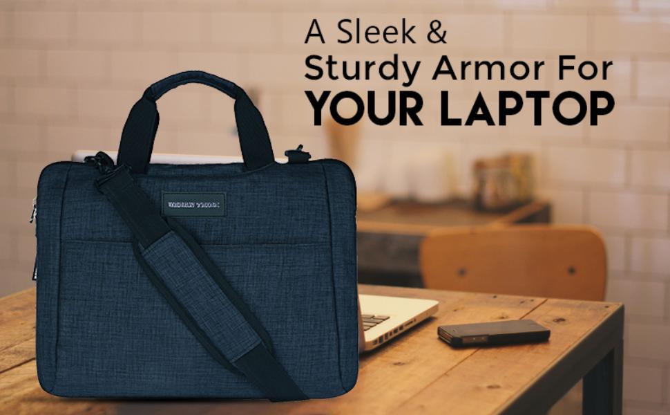 Urban Tribe Dk. Grey Melange Laptop Messenger Bag (Smart Shell)