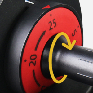Dialing System from 5 - 25 lbs