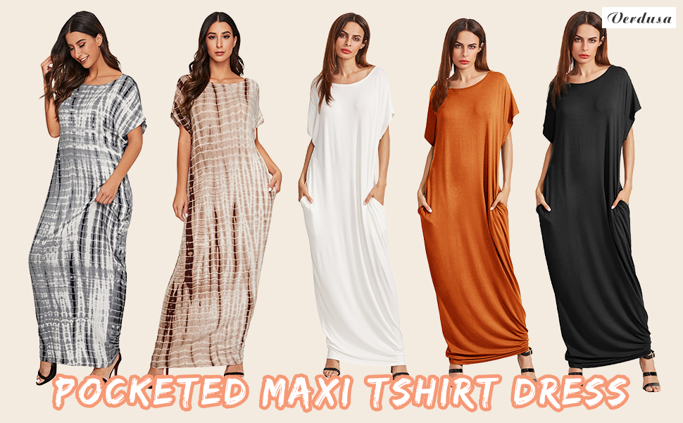 pocketed lounge maxi dress