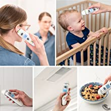multi functional thermometer milk body forehead ear room