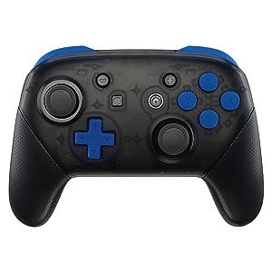 eXtremeRate ABXY D-Pad ZR ZL L R Botones para Mando Nintendo Switch Pro DIY Teclas de Reemplazo Tacto Suave Botón Completo con Herramientas para Nintendo Switch Pro-Controlador NO Incluido(Azul): Amazon.es: Electrónica