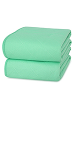 incontinence bed pad washable green