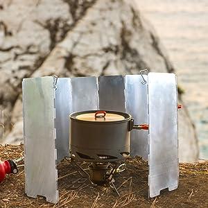 camp stove windshield