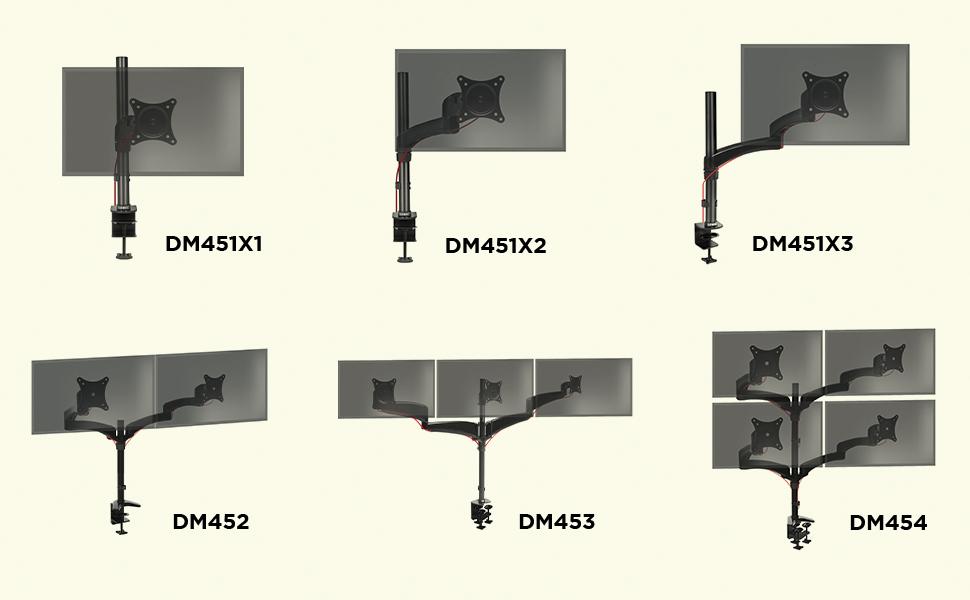 Duronic DM454 Soporte para 4 Monitores PC con Brazo de Escritorio ...