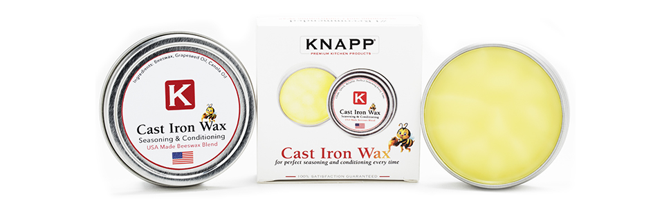 cast iron wax, knapp made, tin, wax, honey, bee