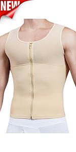 Compression Shirts for Men Body Shaper Undershirt Gynecomastia Vest Seamless Control Tank Top