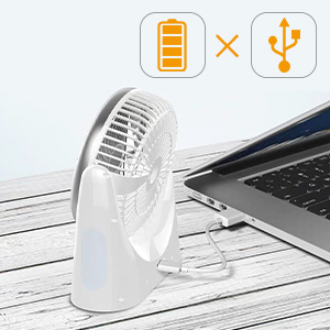 portable fan chargeable