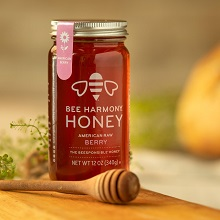 Berry honey jar
