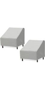 2 PK - SimpleHouseware Patio Lounge Deep-Seat Sofa Cover