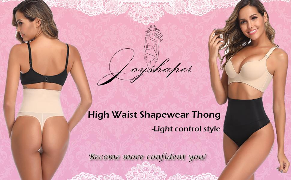 High Waist Shapewear Thong for Women Tummy Control Underwear Body Shaper Thong Waist Cincher Girdle