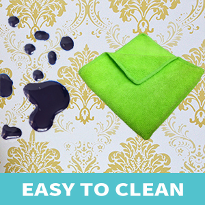 easy to clean contact paper roll, simply use a washcloth to clean the paper