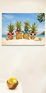beach canvas art picture