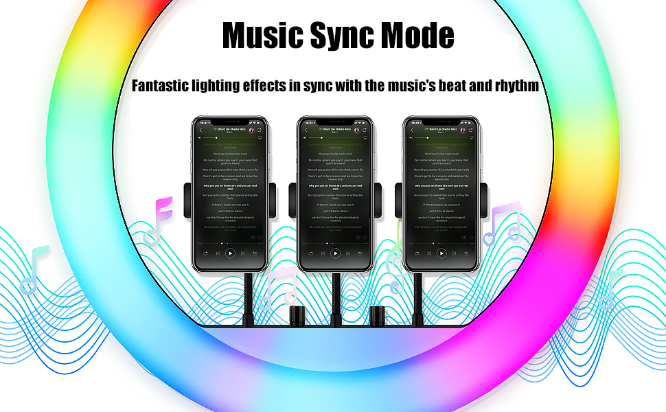 music sync rgb light