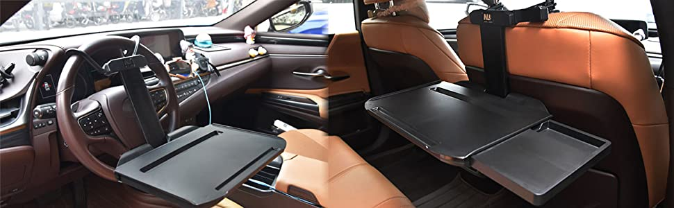using sence, could be mount on the steering wheel and back seat, multifunctional table