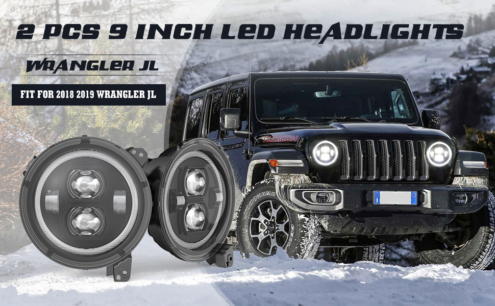 jeep jl headlights wrangler jl 9 inch headlights jeep jl led headlights 2018