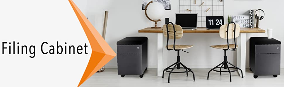 Stand Steady Vert mobile file cabinet in an office.