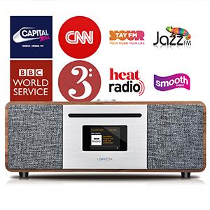 Wifi internet radio fm internet radio alarm clock bluetooth spotify usb bedside internet radio cd