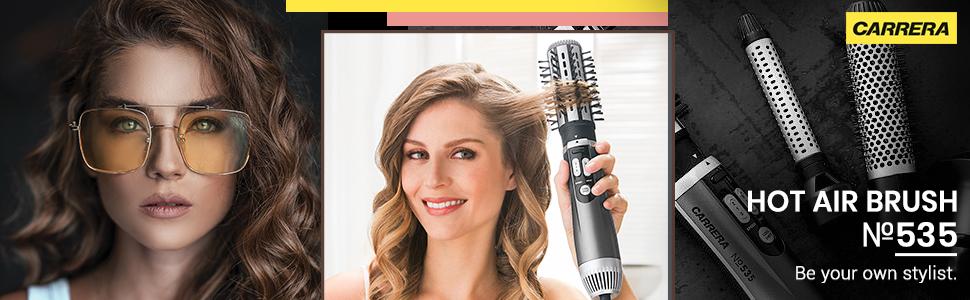 CARRERA 535 Professional Hot Air Brush Styler for Women